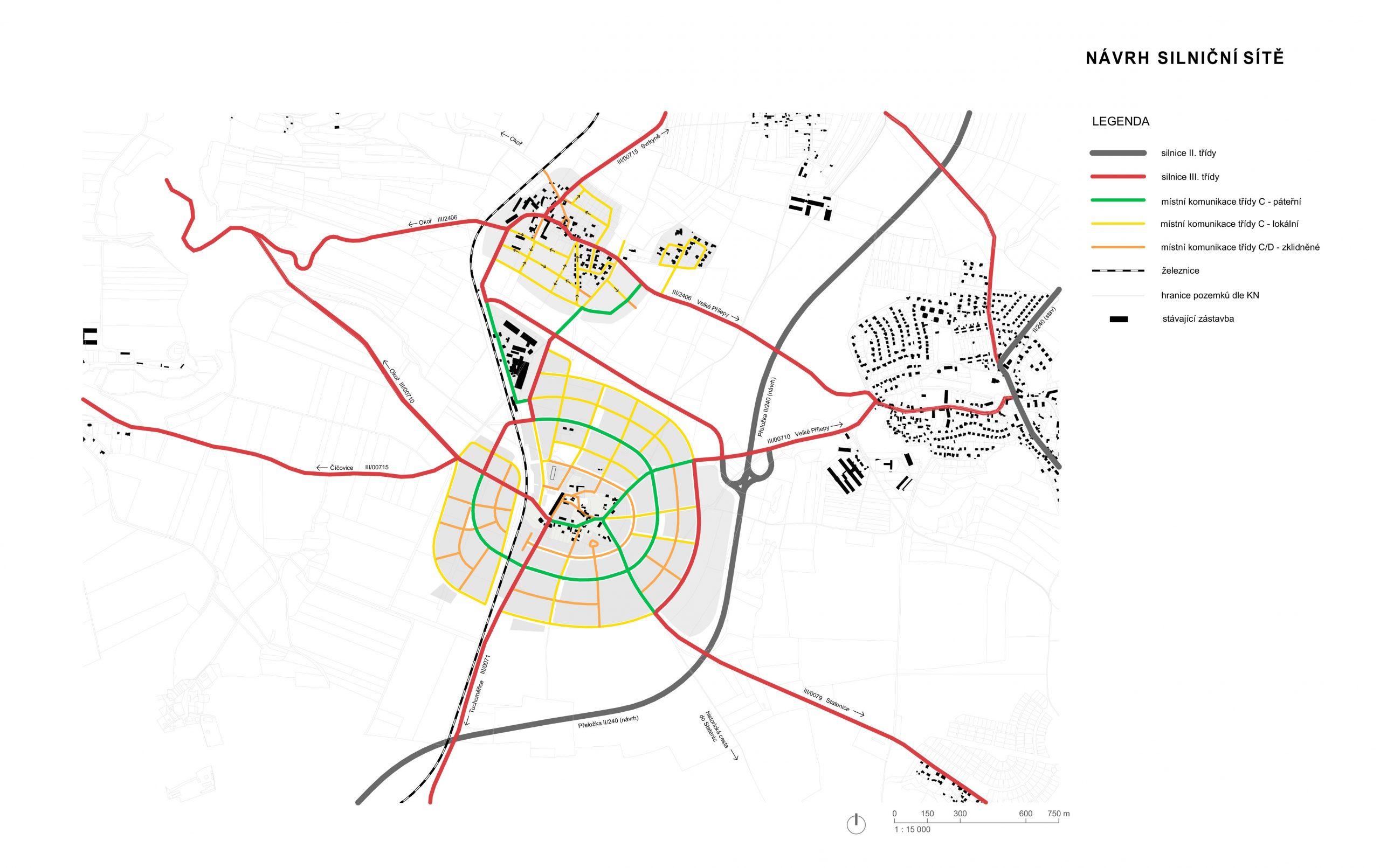 Návrh silniční sítě